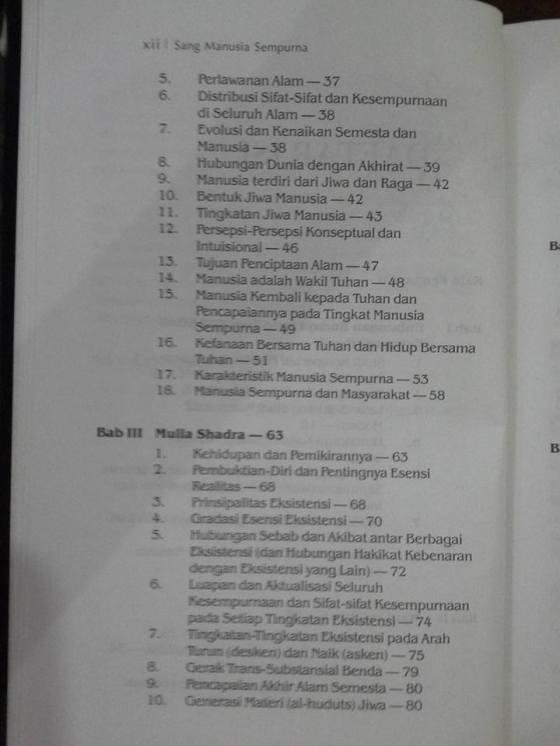 Daftar Isi Buku Sang Manusia Sempurna2