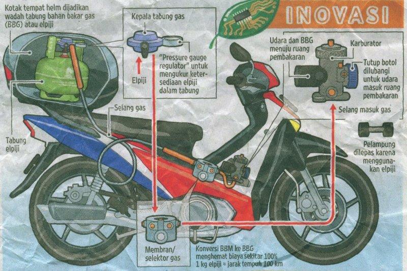 Cara Modifikasi Bahan Bakar Motor lebih Irit dengan Elpiji