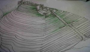 Sketsa Piramida Gunung Padang