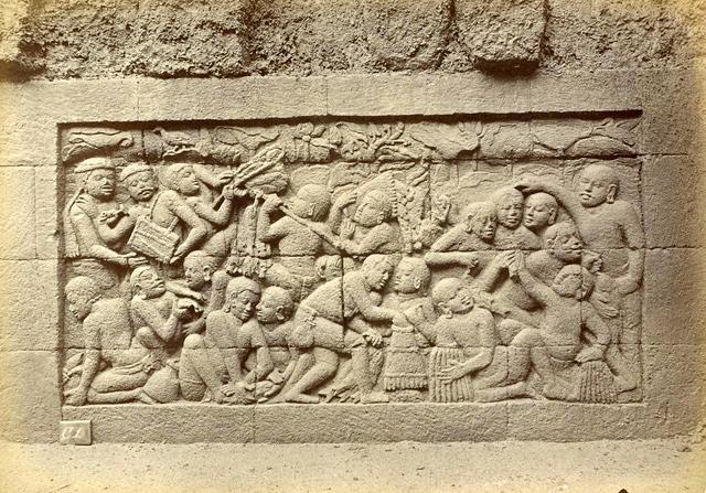 Gambar Foto Relief di Kaki Candi Borobudur yang Kini Terpendam tanah ...