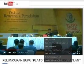 Launcing Buku Plato tidak bohong di Setneg RI