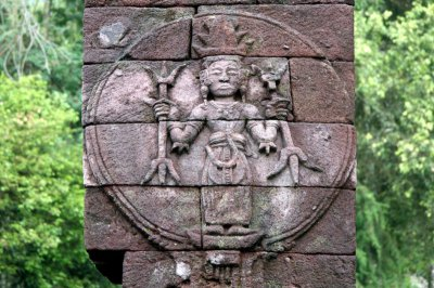 Candi Sukuh 'Sun God' relief, Indonesia