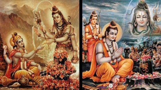 Krishna worships Shiva